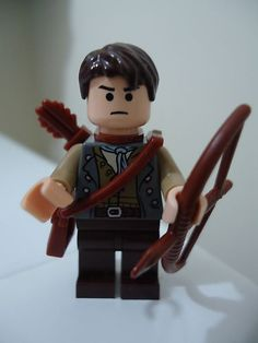Lego Minifigure Lot Hunger Games Gale Hawthorne Minifig Custom Weapons | eBay