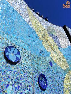 "The mosaic art piece called ""Posion voima"" (Power of Posio) consists of 12 smaller artworks Interior Design Companies, Ceramic Design, Mosaic Art, Finland, City Photo, Centre, Artworks, Tourism, Art Pieces"