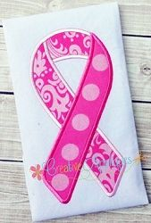 Support Ribbon Two Tone Applique - 4 Sizes! | What's New | Machine Embroidery Designs | SWAKembroidery.com Creative Appliques