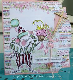 Fasters korthus: Cupcake mouse card