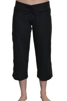 Adidas Womens Climalite Drawstring Leg Capri Athletic Pant S Yoga Exercise Black #adidas #PantsTightsLeggings