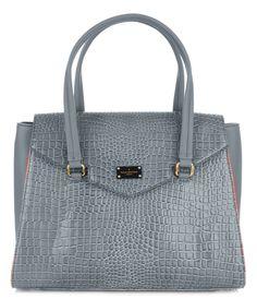 Paul's Boutique Ashley Shoulder bag in Grey Snake. Online now || www.paulsboutique.com x