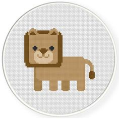 Free Cross Stitch Chart for May 20th 2017 Only - Cute Polygon Lion http://www.DailyCrossStitch.com/ ** Be Sure To Join Our Mailing List Below and Get a Reminder When New Free Charts Are Available Click HERE to Signup: http://dailycrossstitch.com/optin/ #needlepoint