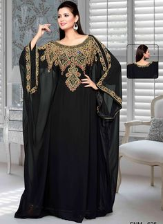 Excited to share the latest addition to my shop: Women Black Color Kaftan Dress Maxi Party Moroccan Farasha Caftan dubai style caftan abaya wedding morccon kaftan Style Caftan, Caftan Dress, Scarf Dress, Abaya Fashion, Muslim Fashion, Fashion Dresses, Punk Fashion, Lolita Fashion, African Maxi Dresses