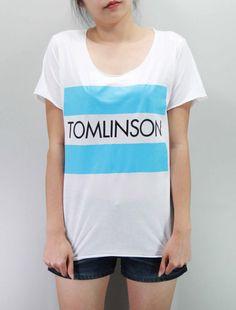 Loius TOMLINSON Shirt One Direction Shirt Softly/Lightly T-Shirt T Shirt TShirt Tee Shirt Unisex - silk screen handmade - Size M L on Etsy, $15.99