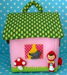 Little Red Riding Hood felt house