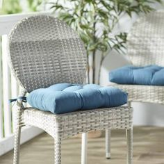 Charlton Home Indoor/Outdoor Dining Chair Cushion Color: Forest Green Custom Outdoor Cushions, Outdoor Lounge Chair Cushions, Solid Wood Dining Chairs, Outdoor Dining Chairs, Windsor, Cushion Fabric, Chair Pads, Side Chairs, Room Chairs