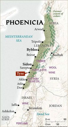 Phoenicia >>> Superimposed over a map of the modern boundaries. I hadn't realised that Phoenicia extended into territories that are now part of Israel and Syria, as well as Lebanon. Bible Mapping, Religion Catolica, Ancient Near East, Hebrew Words, Mystery Of History, Old Maps, Antique Maps, Vintage Maps, Beirut