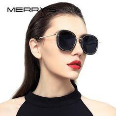 214d5d67a583 MERRY S DESIGN Women Polarized Sunglasses Fashion Sun Glasses Metal Temple  100% UV Protection S