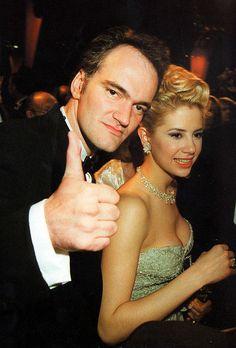 Quentin Tarantino and Mira Sorvino, 1994