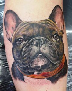 The 21 Coolest French Bulldog Tattoo Designs in the World - New Tattoo Models Dog Tattoos, Animal Tattoos, Tatoos, Bulldogge Tattoo, French Bulldog Tattoo, French Tattoo, Puppy Tattoo, Bullen, Memorial Tattoos