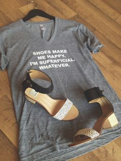 Get these shoe lover graphic tees exclusively at Arco Avenue! $28// Triblend material, vneck, oversized fit // www.arcoavenue.com // 601-790-9662