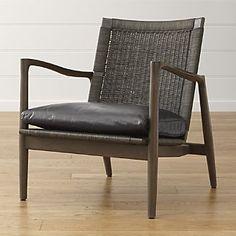 Sebago Chair with Leather Cushion-scott's study chair?