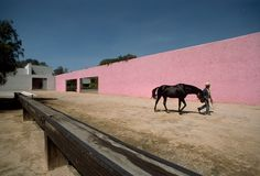 Rene Burri. Stable, horse pool and house (1967-68) planned by Luis BARRAGÁN and Andres CASILLAS. México, 1976.