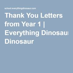 Thank You Letters from Year 1 | Everything Dinosaur