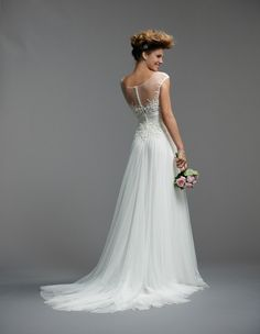 Illusion necklines & statement backs with Watters Wedding Dresses Spring 2014