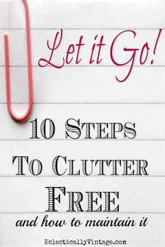 Tips to Declutter for Organized Home - and how to maintain it eclecticallyvintage.com