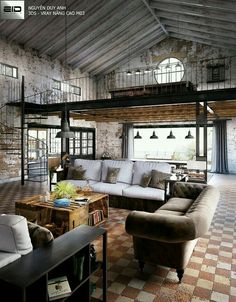 Loft apartment decorating - Creatively Industrial Interior Design Ideas for House or Office – Loft apartment decorating Modern Industrial Decor, Industrial Interior Design, Industrial House, Industrial Interiors, Decor Interior Design, Industrial Style, Industrial Lighting, Industrial Dining, Industrial Loft Apartment