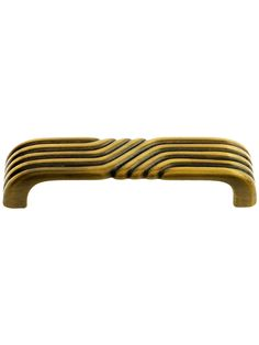 vtg NOS Dull BRONZE Cabinet Door Pulls Stepped Sides Art Deco Handles Knobs