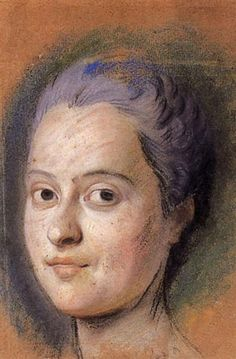 Preparation to the portrait of the Dauphine Marie Josephe of Saxony - Морис Кантен де Латур
