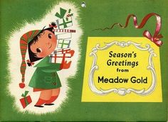 Season's Greetings - Meadow Gold - Mary Blair