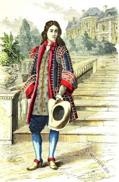 French Lord in the late 17th century. Baroque era. 17th century fashion.