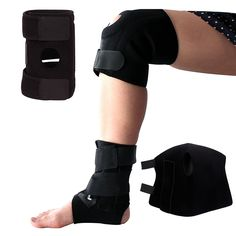 Sportsun Plantar Fasciitis Comfort for Feet-and Knee Brace with Dual Side Stabilizer Comfortable Adjustable for Plantar Fasciitis Treatment all Sizes Color Black * Startling review available here  : Sports First Aid