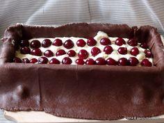 Prajitura-tunel-branza-visine (12) Pie, Sweet, Desserts, Recipes, Food, Torte, Candy, Tailgate Desserts, Cake