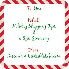 Holiday Shopping: Smart Shopping with Discover and a giveaway
