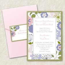 Joyful Blooms - Layered Pocket Invitation - Blossom