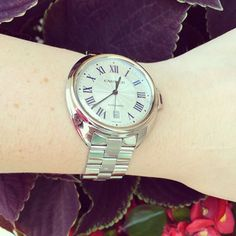 Gorgeous new Cartier Cle in stainless steel! Cartier Watches, Precious Metals, Inventions, Bracelet Watch, Stainless Steel, Jewels, Instagram Posts, Accessories, Bijoux