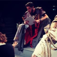 Highlight of the week: making a robe for Prospero and seeing it lit up on stage. There's 30 hours of teamwork in that one robe. And it looks magnificent. #thetempest #benbeingbrill #prospero #workit #costume #design #miranda #shakespeare iStaPix.com