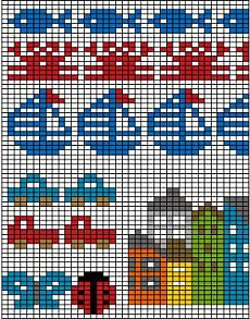 Best 10 Mustrilaegas: A Kudumine / Knitting – SkillOfKing. Tiny Cross Stitch, Beaded Cross Stitch, Cross Stitch Borders, Cross Stitch Designs, Cross Stitch Embroidery, Cross Stitch Patterns, Knitting Charts, Baby Knitting, Knitting Patterns