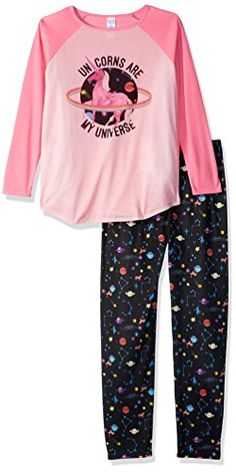 The Children's Place Girls' Long Sleeve Top and Pants Pajama Set Pajama Set, Pajama Pants, Fall Winter Spring Summer, Girls Pajamas, Outfit Sets, Fall Outfits, Long Sleeve Tops, Winter Springs, Clothing Sets