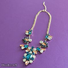 Colorful Statement Necklace $20 + worldwide shipping #summer #spring #accessory #fashion #jewelry