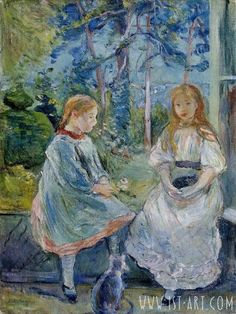 Little Girls at the Window, Jeanne and Edma Bodeau