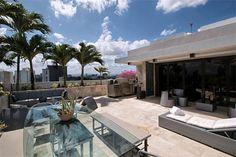 Ocean & City view rooftop deck: Penthouse at Washington Plaza 57 Washington Street - San Juan, Puerto Rico