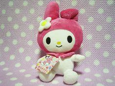 "My Melody Sanrio JAPAN Kawaii Pink Plush Stuffed Doll NEW w/ Tag 2006 13.4"" 34cm"