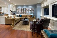 how to make a dark room, basement or family room feel brighter with lighting and paint