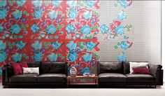 AFFRESCO is a sophisticated decoration mosaic designed by Paola Navone. Four mosaic tile patterns can be combined to make up the design. E Design, Wall Design, Interior Design, Chinoiserie, Mosaic Tiles, Wall Tiles, Wall Mural, Elements Of Design, Living Furniture