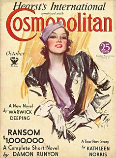 Cosmopolitan October 1933 Vol. 95, No. 4 -Cover Art - Harrison Fisher