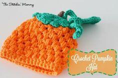 Crochet Pumpkin Hat - Free Pattern www.thestitchinmommy.com