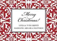 Crimson Holiday Pattern Gift Stickers
