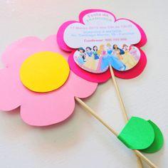 """Convite para festa """"Princesas Disney"""" sara@gigglearts.com"""