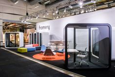 Framery's Me Time Booth is a perfect retreat for an individual working without distractions for a longer period of time. The electric table is height adjustable, suitable for sitting, standing, and wheelchair use. Me Time is fully equipped with LED lighting, two power sockets and air ventilation, to ensure your time in the booth is pleasant and productive. | Creating Happy Offices | Sound Proof Acoustic Phone Booths, Mid-Century and Contemporary Office Design and Furniture | Framery UK… Bureau Design, Flex Office, Architecture Tools, Espace Design, Air Ventilation, Contemporary Office, Coworking Space, Sitting Area, No Time For Me