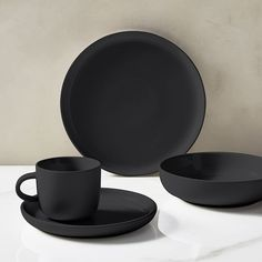 Kaloh Dinnerware, Set of Fog Black Dinnerware, Stoneware Dinnerware Sets, Tableware, Modern Dinnerware Sets, Kitchenware Set, Black Kitchens, Home Kitchens, Dining Ware, Kitchen Items