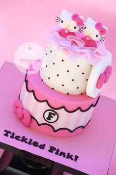 Hello Kitty Twins Baby Shower Cake -
