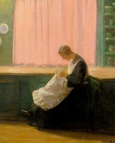 At the End of the Day, 1924 ~ Anna Ancher ~ (Danish: 1859-1935)