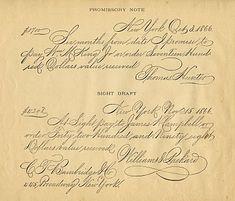 Antique Clip Art - Spencerian Writing Sample - The Graphics Fairy