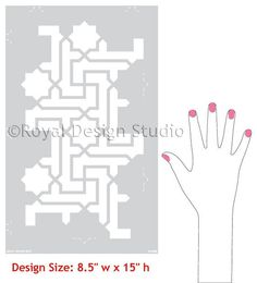 This geometric furniture or wall stencil pattern combines both geometric and star designsin one beautiful design! The Moroccan Key Stencilmakes stunning accen
